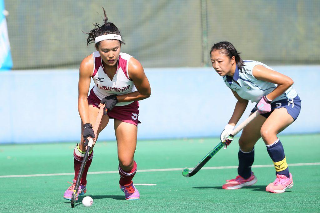 3得点で活躍した#9河村元美選手(左)『山梨学院CROWNING GLORIES』