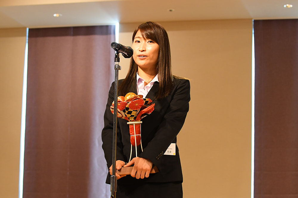 女子最優秀選手賞(年間MVP)に輝いた清水美並(ソニーHC BRAVIA Ladies)